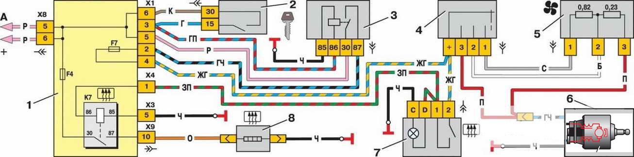 Схема подключения вентилятора ваз 2115 фото 965