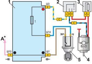 Схема подключения печки ВАЗ 2107