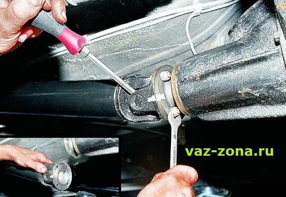 соединение карданного вала с редуктором ваз 2107